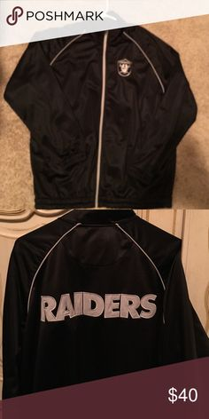 Official NFL Raider zip up Brand new never worn.  Purchased at the Raider Image.  Price is firm NFL Jackets & Coats
