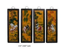 "Chinese Porcelain ""Eight Horse"" 4 Pieces Wall Panel Set vs846"
