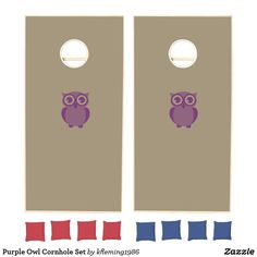 Add some friendly fun to the BBQs, tailgates, and outdoor activities with Purple cornhole sets from Zazzle. Design your own boards and choose from various colored bean bags to create the perfect cornhole set. Cornhole Set, Cornhole Boards, Purple Owl, Design Your Own, Outdoor Activities, Logos, Fun, Logo, Field Day Activities