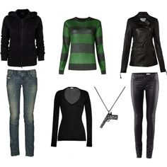 Female Tate Langdon (American Horror Story) ...I love these outfits