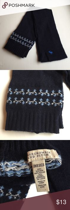 Abercrombie & Fitch blue OTK leg warmers Abercrombie & Fitch navy fair isle over the knee leg warmers, great condition only worn once Abercrombie & Fitch Accessories Hosiery & Socks