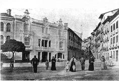 CALLE NUEVA - 3  Año 1908. Palacio de los Marqueses de Vessolla en la calle de…