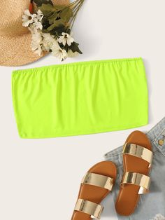 To find out about the Plus Neon Lime Tube Top at SHEIN, part of our latest Plus Size Women Tops ready to shop online today! Neon Top, Plus Size Women's Tops, Spandex Material, Spandex Fabric, Plus Size Outfits, Fashion News, Plus Size Fashion, Autumn Fashion, Tube