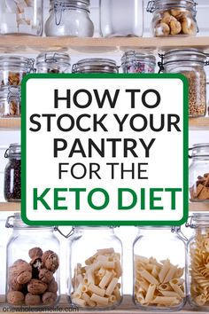 11 Essential Keto Pantry Staples to Always Have on Hand – One Wholesome Life How to make a list of keto pantry staples! Low carb and gluten free pantry essentials to always have on hand! Best Diet Foods, Best Keto Diet, Foods To Eat, Best Diets, Healthy Foods, Best Healthy Diet, Best Diet Plan, Keto Diet Book, Keto Food List