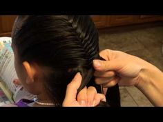 Combo: Laced Braid Wrapped Around Fishtail - YouTube