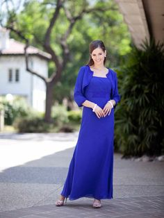 Pretty A-line empire waist chiffon mother dress of the bride