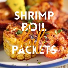 Shrimp Boil Foil Packets - Easy, make-ahead foil packets packed with shrimp, sausage, corn and potatoes. It's a full meal with zero clean-up! Seafood Boil Recipes, Fish Recipes, Chicken Recipes, Restaurant Copycat Recipes, Cajun Seafood Boil, Seafood Meals, Grilled Shrimp Recipes, Instant Pot Dinner Recipes, Easy Dinner Recipes