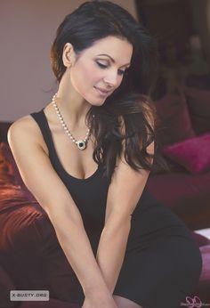 Denise Milani - Red Sofa