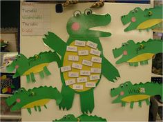 Crocodile Contractions (cute cute lesson plan)