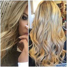 Khloe Kardashian inspired dimensional blonde by stylist Kristina using Hotheads Hair Extensions. (Follow @kristinalapin @thehairbabes on Instagram)