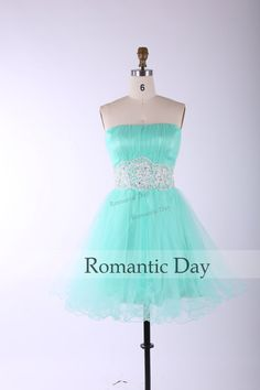 2014 Hot Sale Mint green Appliques ALine Tulle by RomanticDay