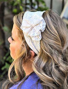 Lace headband! sewing-station
