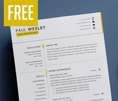 Perfect Resume Template and Cover Letter