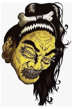 $3.59 - Shrunken Head By Tank Standing Buffalo Lowbrow Headhunter Decal/Vinyl Sticker #ebay #Collectibles Shrunken Head Tattoo, Tattoo Grafik, Weird Stuff On Amazon, Head Hunter, Horror Themes, Tiki Art, Geniale Tattoos, Goth Art, Head Tattoos