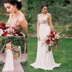 Cheap Bridesmaid Dresses A-line V Neck Sequins Long Bridesmaid Dress With Open Back Patterned Bridesmaid Dresses, Bridesmaid Dresses 2017, Wedding Dresses, Prom Dresses, Rose Gold Sequin Top, Gold Sequins, South African Dresses, Maid Of Honour Dresses, White Chiffon