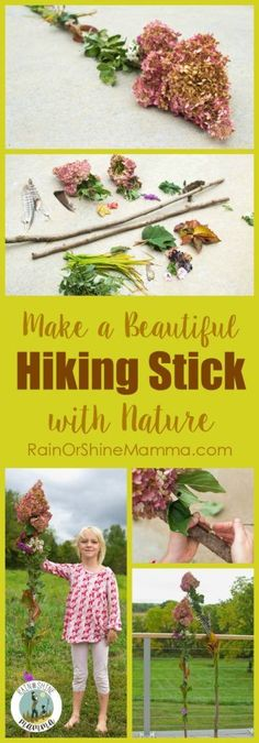 Make a Beautiful Hiking Stick from Nature. A fun nature activity that fits both younger and older kids. Rain or Shine Mamma. Make a Beautiful Hiking Stick from Nature. A fun nature activity that fits both younger and older kids. Rain or Shine Mamma. Creative Activities For Kids, Outdoor Activities For Kids, Camping Activities, Creative Kids, Outdoor Learning, Forest School Activities, Nature Activities, Family Activities, Learning Activities