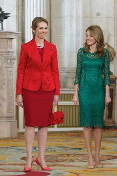 MYROYALS  FASHİON: Princess Elena with Crown Princess Letizia at the IOC dinner