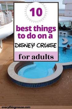 What is there to do on a Disney Cruise for adults? Are there really any Disney cruise activities for adults? Find out the truth in this guide. Disney Cruise Europe, Disney Dream Cruise Ship, Disney Wonder Cruise, Disney Fantasy Cruise, Cruise Travel, Disney Cruise Line, Cruise Vacation, Italy Vacation, Celebrity Cruises