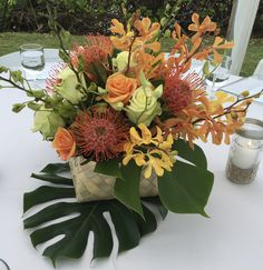 Tropical Centerpieces, Hawaiian Islands, Types Of Flowers, Tropical Flowers, Rehearsal Dinners, Luau, Vows, Table Decorations, Home Decor