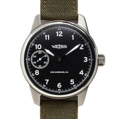Standard Issue Field Watch, Black Dial – Weiss Watch Company
