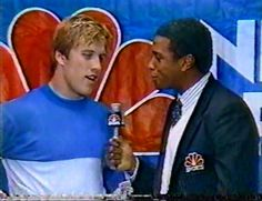 JOHN ELWAY interviewed after the 22-17 win against the New England Patriots in the AFC Divisional Playoff on Jan. 4, 1987!!
