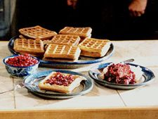 Sourdough waffles (Martha Stewart); now that I have the starter recipe, I have to try this, and sourdough bread (KLH)