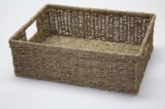 Shallow Seagrass Storage Basket (S): Amazon.co.uk: Kitchen & Home