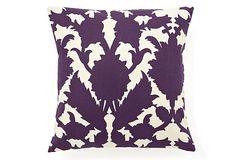 Mulberry 16x16 Pillow, Purple/Beige on OneKingsLane.com