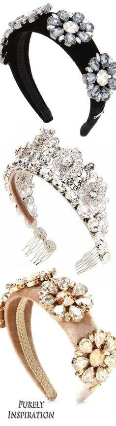 Dolce & Gabbana crystal embellished velvet headbands and tiara | Purely Inspiration