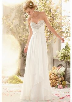 New Design Floor-length Appliques Beading Sweetheart Wedding Dresses (WD0083)