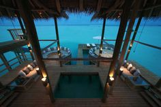 Soneva Gili, Maldives.  Largest private overwater bungalow in the world.