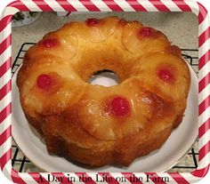 A Day in the Life on the Farm: Pineapple Upside Down Bundt #BundtBakers Summer Desserts, Fun Desserts, Buttermilk Pound Cake, Christmas Appetizers, Christmas Cakes, Pineapple Upside Down Cake, Valentine Cake, Pound Cake Recipes, Let Them Eat Cake