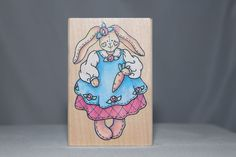 Large Patchwork Bunny USA Rubber Stampede Wood & Foam Backed Rubber Stamp          http://autopartspuller.com/ Great Sale 50% off entire store!! Copper, Glassware, Wood Crafts, Scrap Booking   Also Find us on:  http://hometownvintage.com http://autopartspuller.com @HomeTownVintage @autopartspuller @preppershowto http://facebook.com/hometownvtg http://facebook.com/AutoPartsPuller