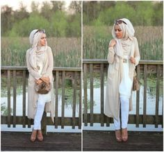 neutral cardigan hijab style, Hijab looks by Sincerely Maryam http://www.justtrendygirls.com/hijab-looks-by-sincerely-maryam/