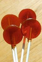 Cough drop pops - honey is cooked but this is a good alternative for kids who can't have cane or rice syrup