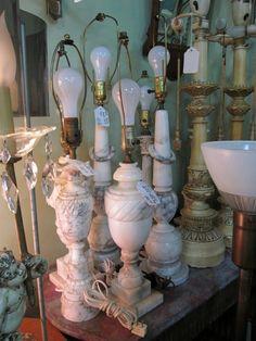 ❥ alabaster lamps