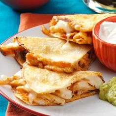 Chicken Quesadillas Recipe from Taste of Home -- shared by Linda Wetzel of Woodland Park, Colorado #quick_dinner