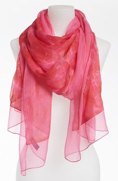 Eyeful Floral Silk Scarf available at #Nordstrom