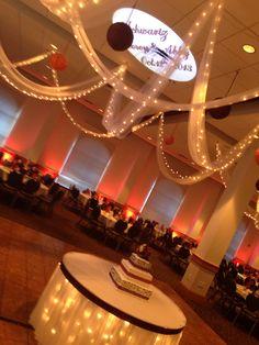 Monogram projection and uplighting Schwartz Wedding Reception 10/12/3013