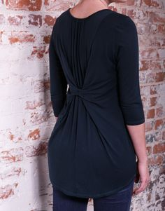 Denna - Nice Pine color with featuring an unexpected back pleat.