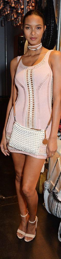 Lais Ribeiro crochet dress May 2016
