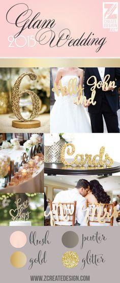 gold, glitter and blush wedding ideas