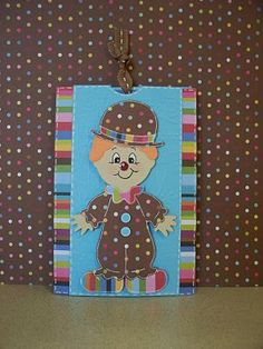 Clown card. Looks so vintage, I love it!