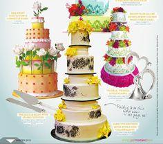 Get Married Magazine: Paisely Wedding Cake   http://www.pinkcakebox.com/get-married-magazine-paisely-wedding-cake/