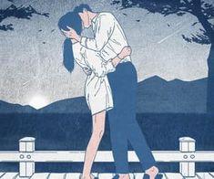 Imagen de kiss, love, and art Love Cartoon Couple, Cute Love Cartoons, Anime Love Couple, Cute Couple Drawings, Cute Couple Art, Cute Drawings, Romantic Anime Couples, Anime Couples Manga, Cartoon Pencil Sketches