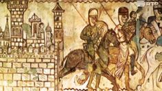 A Ordem dos Templários e o Castelo de Tomar Portugal, Poster, Painting, Knights Of The Temple, Christ, 11th Century, Castle, Travel, Painting Art