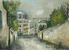 Maurice Utrillo (1883-1955) Rue du Mont-Cenis à Montmartre, 1914