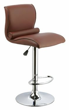 AEF Swivel Bar Stools with Adjustable Height in Brown PU Leather & Chrome Finish, Set of 2. by GoFurniture. $189.00. Classy and Comortable Bar Stool. 360 degree swivel with adjustable height. Durable synthetic leather. Simple assembly required. Foot Support. swivel seat dining barstool with chrome base. Save 35%!