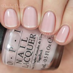 """OPI 2015 Soft Shades Collection - """"Put It In Neutral"""" is a beige-toned pale pink sheer. 2 coats."""