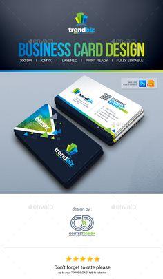 Business Card Design Design Template - Corporate Business Cards Design Template PSD, Vector EPS, Ai Illustrator. Download here: https://graphicriver.net/item/business-card-design/19369286?ref=yinkira
